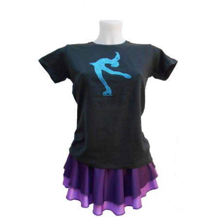 Tee Shirt Pirouette Cambrée Turquoise