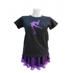 Tee Shirt Pirouette Cambrée Violette